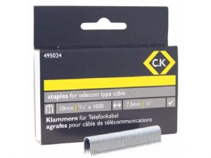 C K Telecom cable staples 4.5mm wide x 10mm deep Box of 1000 - 495024